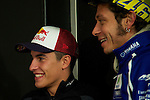 hertz british grand prix during the world championship 2014.<br /> Silverstone, england<br /> August 28, 2014. <br /> marc marquez<br /> valentino rossi<br /> PHOTOCALL3000/ RME