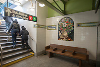 The East 180th Street station in the Bronx in New York  on the Dyre Avenue line is seen at the ribbon cutting for its restoration on Friday, March 15, 2013. The station, once part of the defunct New York, Westchester and Boston Railroad was taken over by NYC Transit  after its bankruptcy. The NYWB only operated from 1912 to 1937 and the Dyre Avenue portion became part of the NYCTA in 1940. The station was built in 1912 in Italian Villa style. (© Richard B. Levine)
