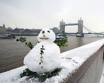 Tower Bridge Snowman