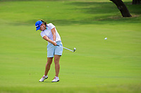Karine Icher (FRA) hits her approach shot on 9 during round 2 of  the Volunteers of America Texas Shootout Presented by JTBC, at the Las Colinas Country Club in Irving, Texas, USA. 4/28/2017.<br /> Picture: Golffile | Ken Murray<br /> <br /> <br /> All photo usage must carry mandatory copyright credit (&copy; Golffile | Ken Murray)