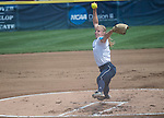 30 MAY 2016: Courtney Allen (1) of Messiah College delivers a pitch against University of Texas-Tyler during the Division III Women's Softball Championship held at the James I Moyer Sports Complex in Salem, VA.  University of Texas-Tyler defeated Messiah College 7-0 for the national title. Don Petersen/NCAA Photos