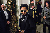 Musician Lenny Kravitz arrives at the Kennedy Center Honors reception at the White House on December 2, 2012 in Washington, DC. The Kennedy Center Honors recognized seven individuals - Buddy Guy, Dustin Hoffman, David Letterman, Natalia Makarova, John Paul Jones, Jimmy Page, and Robert Plant - for their lifetime contributions to American culture through the performing arts. .Credit: Brendan Hoffman / Pool via CNP