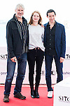 """The director of the film, Harry Cleven, actress Fleur Geffrier and a producer pose to the media during the presentation of the film """"Mon Ange"""" at Festival de Cine Fantastico de Sitges in Barcelona. October 11, Spain. 2016. (ALTERPHOTOS/BorjaB.Hojas)"""