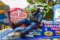 Sep 4, 2017; Clermont, IN, USA; NHRA funny car driver Ron Capps during the US Nationals at Lucas Oil Raceway. Mandatory Credit: Mark J. Rebilas-USA TODAY Sports