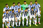 Real Sociedad's team photo with Raul Navas, Xabi Prieto, Esteban Granero, Geronimo Rulli, Inigo Martinez, William Jose, Alvaro Odriozola, Carlos Vela, Sergio Canales, Igor Zubeldia and Yuri Berchiche during La Liga match. April 4,2017. (ALTERPHOTOS/Acero)