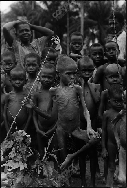 Starving Ibo children, war of secession,  Biafra, Nigeria, July 1968