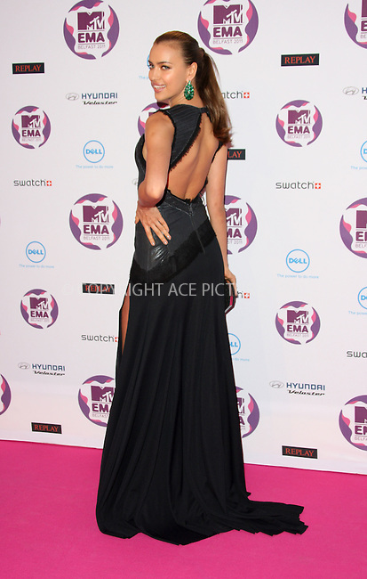 WWW.ACEPIXS.COM . . . . .  ..... . . . . US SALES ONLY . . . . .....November 6 2011, Belfast....Irina Shayk arriving at the MTV Europe Music Awards at the Odyssey Arena on November 6 2011 in Belfast....Please byline: FAMOUS-ACE PICTURES... . . . .  ....Ace Pictures, Inc:  ..Tel: (212) 243-8787..e-mail: info@acepixs.com..web: http://www.acepixs.com