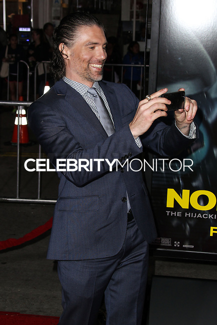 "WESTWOOD, CA, USA - FEBRUARY 24: Anson Mount at the World Premiere Of Universal Pictures And Studiocanal's ""Non-Stop"" held at Regency Village Theatre on February 24, 2014 in Westwood, Los Angeles, California, United States. (Photo by Xavier Collin/Celebrity Monitor)"
