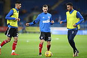 31st October 2017, Cardiff City Stadium, Cardiff, Wales; EFL Championship football, Cardiff City versus Ipswich Town; Bersant Celina of Ipswich Town warms up with teammates