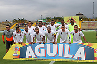 BOGOTÁ -COLOMBIA, 25-02-2018:Formación del Envigado FC contra La Equidad  durante partido por la fecha 5 de la Liga Águila I 2018 jugado en el estadio Metropolitano de Techo de la ciudad de Bogotá./ Team of Envigado FC agaisnt Equidad  during the match for the date 5 of the Aguila League I 2018 played at Metropolitano de Techo stadium in Bogotá city. Photo: VizzorImage/ Felipe Caicedo / Staff
