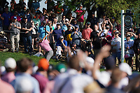 Rickie Fowler (USA) on the 17th tee during the 3rd round at the PGA Championship 2019, Beth Page Black, New York, USA. 19/05/2019.<br /> Picture Fran Caffrey / Golffile.ie<br /> <br /> All photo usage must carry mandatory copyright credit (© Golffile | Fran Caffrey)