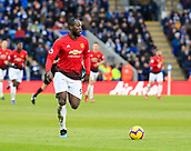 3rd February 2019, King Power Stadium, Leicester, England; EPL Premier League Football, Leicester City versus Manchester United; Romelu Lukaku of Manchester United runs forward with the ball