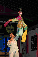 Female Puppet & puppeteer in a traditional Chinese Puppet Show - Chengdu, China in Sichuan Province