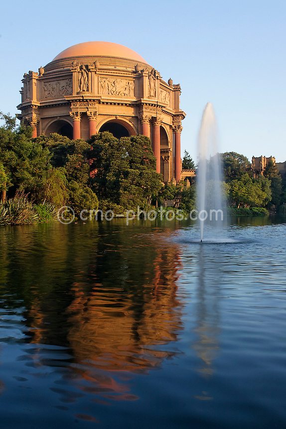 Sunrise at The Palace of Fine Arts in San Francisco, CA