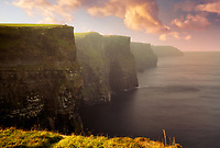 Cliffs of Moher at sunrise. Ireland