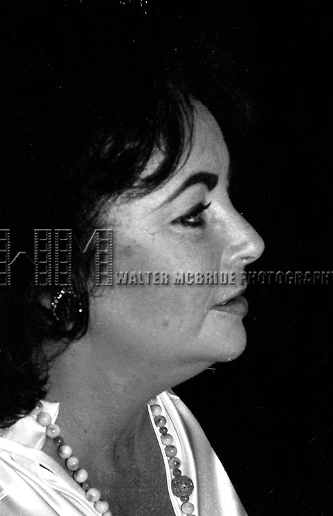 Elizabeth Taylor attending a Broadway Show  on June 6, 1980  in New York City.