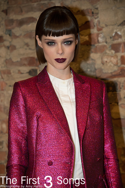 Model Coco Rocha poses backstage at the Christian Siriano fashion show during Mercedes-Benz Fashion Week Spring 2015 at Eyebeam on September 6, 2014 in New York City.
