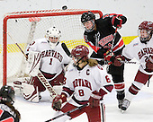 Laura Bellamy (Harvard - 1), Kristi Kehoe (NU - 34), Leanna Coskren (Harvard - 24) - The Harvard University Crimson defeated the Northeastern University Huskies 1-0 to win the 2010 Beanpot on Tuesday, February 9, 2010, at the Bright Hockey Center in Cambridge, Massachusetts.
