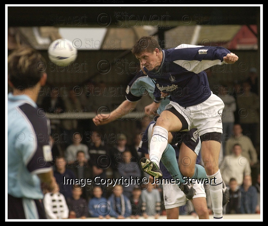 28/9/02       Copyright Pic : James Stewart                     .File Name : stewart-falkirk v st j'stone 11.KEVIN JAMES HEADS HOME FALKIRK'S LATE WINNER....James Stewart Photo Agency, 19 Carronlea Drive, Falkirk. FK2 8DN      Vat Reg No. 607 6932 25.Office : +44 (0)1324 570906     .Mobile : + 44 (0)7721 416997.Fax     :  +44 (0)1324 570906.E-mail : jim@jspa.co.uk.If you require further information then contact Jim Stewart on any of the numbers above.........