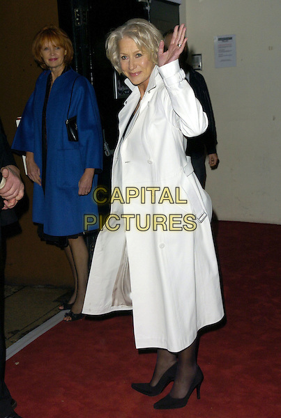 DAME HELEN MIRREN.At The British Independent Film Awards, .Hammersnith Palais, Shepherds Bush Road, .London, England, November 29th 2006..full length white coat hand waving.CAP/CAN.©Can Nguyen/Capital Pictures