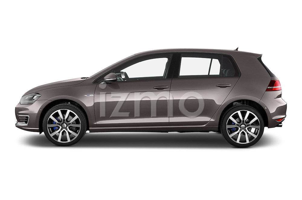 Car Driver side profile view of a 2015 Volkswagen Golf GTE 5 Door Hatchback 2WD Side View