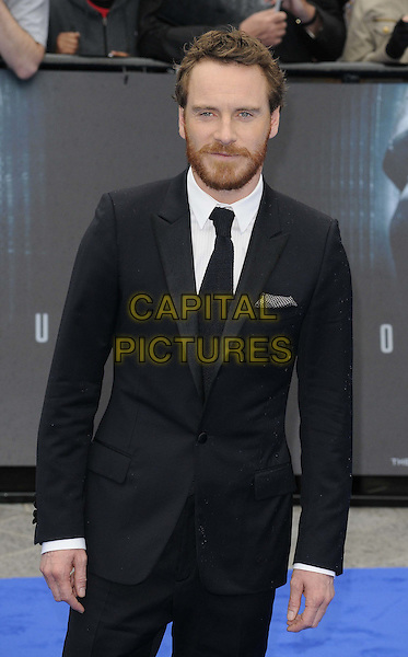 Michael Fassbender.'Prometheus' world film premiere, Empire cinema, Leicester Square, London, England..31st May 2012.half length black suit beard facial hair.CAP/CAN.©Can Nguyen/Capital Pictures.