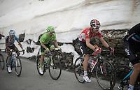 up the snow-covered Colle dell'Agnello (2744m)<br /> <br /> stage 19: Pinerolo(IT) - Risoul(FR) 162km<br /> 99th Giro d'Italia 2016