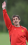 Gary Neville of Manchester United during training before the champions league fixture against Barcelona. Picture date 28th April 2008. Picture credit should read: Simon Bellis/Sportimage