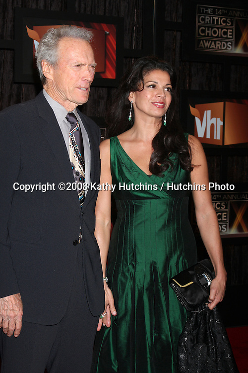 Clint & Dina Eastwood   arriving at the  Critic's Choice Awards at the Santa Monica Civic Center, in Santa Monica , CA on .January 8, 2009.©2008 Kathy Hutchins / Hutchins Photo..                .