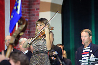 Nicola Benedetti during the closing ceremony of the 39th Ryder Cup at Medinah Country Club, Chicago, Illinois  (Photo Colum Watts/www.golffile.ie)