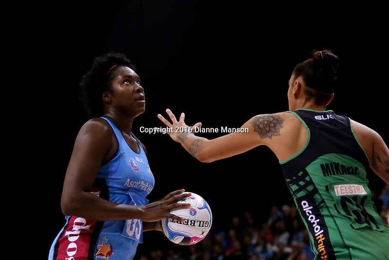 during the ANZ Championship match between the Steel and the Fever on April 30, 2016 in Invercargill, New Zealand.