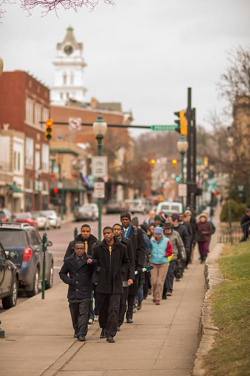 MLK Jr. Silent March down Court Street.