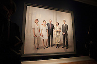 King Juan Carlos I of Spain and Queen Sofia of Spain attend a painting exhibition at Palacio Real in Madrid, Spain. November 03, 2014. (ALTERPHOTOS/Victor Blanco) /NortePhoto.com