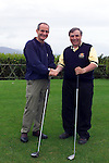 Dundalk Golf club captain Des Dunne shakes hands with Dr. martin McAleese before they tee off on the First hole in Dundalk Golf Club.Pic Fran Caffrey Newsfile..Camera:   DCS620X.Serial #: K620X-00546.Width:    1728.Height:   1152.Date:  11/5/01.Time:   19:51:31.DCS6XX Image.FW Ver:   3.2.3.TIFF Image.Look:   Product.Sharpening Requested: Yes.Counter:    [6797].Shutter:  1/40.Aperture:  f10.ISO Speed:  400.Max Aperture:  f2.8.Min Aperture:  f22.Focal Length:  48.Exposure Mode:  Manual (M).Meter Mode:  Color Matrix.Drive Mode:  Continuous High (CH).Focus Mode:  Single (AF-S).Focus Point:  Center.Flash Mode:  Normal Sync.Compensation:  +0.0.Flash Compensation:  +0.0.Self Timer Time:  10s.White balance: Custom.Time: 19:51:31.318.