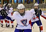06.01.2020, BLZ Arena, Füssen / Fuessen, GER, IIHF Ice Hockey U18 Women's World Championship DIV I Group A, <br /> Frankreich (FRA) vs Italien (ITA), <br /> im Bild Chloe Gentien (FRA, #4) freut sich ueber den Sieg ihres Teams, im Hintergrund Jade Barbirati (FRA, #8)<br />  <br /> Foto © nordphoto / Hafner