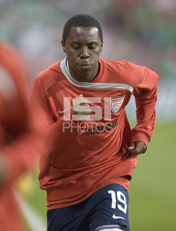 Freddy Adu during warm ups. USA and Mexico tied, 2-2, in an international friendly at Reliant Stadium, Houston, Texas on February 6, 2008.