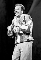 Montreal, July 20, 1989 File Photo.<br /> American Stand up comic Dennis Wolfberg on stage at the St-Denis Theater in Montreal (Quebec, Canada)<br /> during the 1989 Just For Laugh Festival<br /> <br /> Photo by Pierre Roussel, (c) 1989