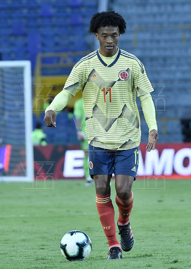 BOGOTA - COLOMBIA, 03-06-2019: Juan G Cuadrado jugador de Colombia en acción durante partido amistoso entre Colombia y Panamá jugado en el estadio El Campín en Bogotá, Colombia. / Juan G Cuadrado player of Colombia in action during a friendly match between Colombia and Panama played at Estadio El Campin in Bogota, Colombia. Photo: VizzorImage/ Gabriel Aponte / Staff