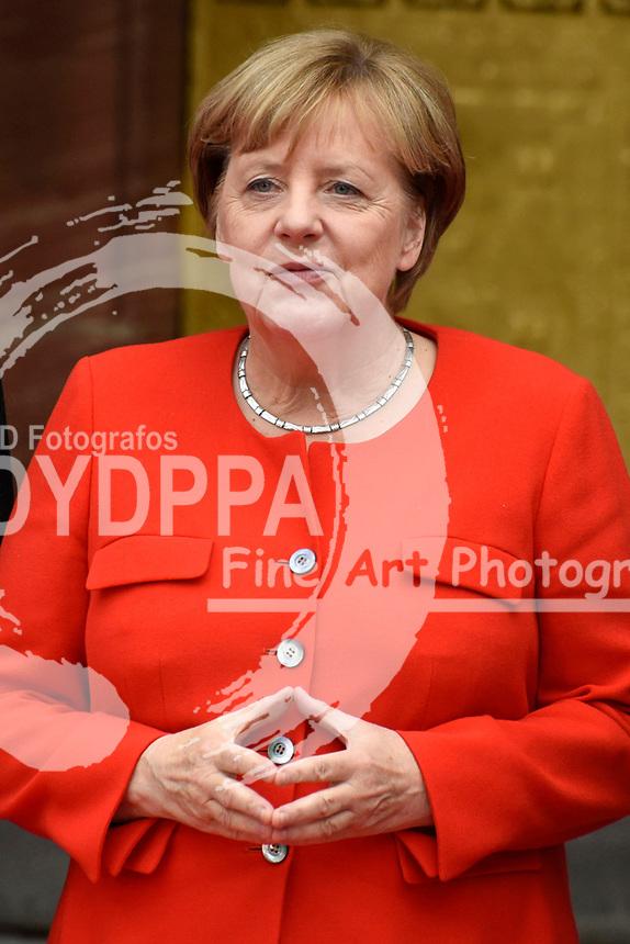 Angela Merkel bei der Eröffnung der Frankfurter Buchmesse 2017 auf Messe Frankfurt. Frankfurt, 10.10.2017