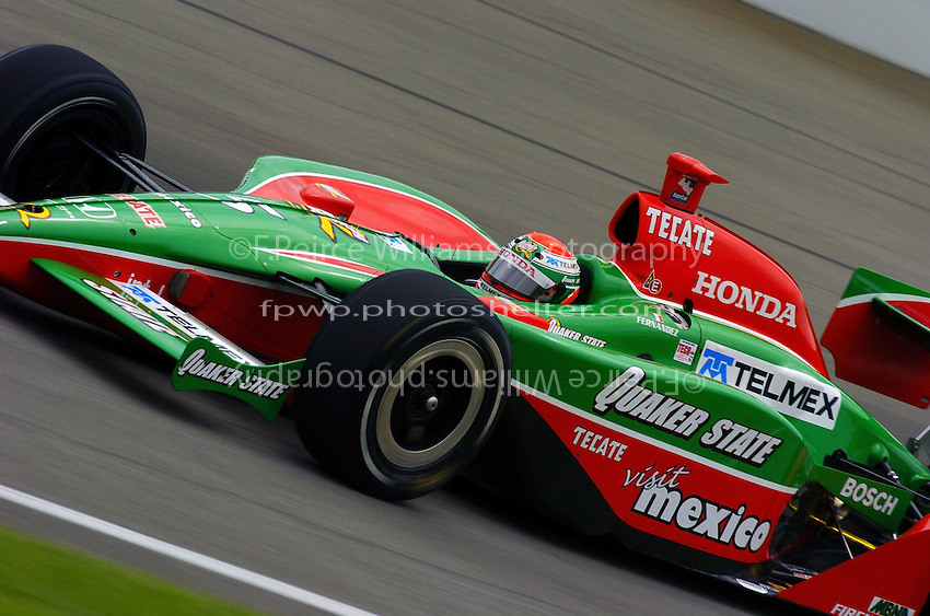 9-27 May,2004 Indianapolis Motor Speedway, Indiana, USA.Adrian Fernandez...
