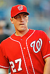 28 August 2010: Washington Nationals pitcher Jordan Zimmermann stands in the dugout prior to a game against the St. Louis Cardinals at Nationals Park in Washington, DC. The Nationals defeated the Cards 14-5 to take the third game of their 4-game series. Mandatory Credit: Ed Wolfstein Photo