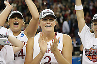 SACRAMENTO, CA - MARCH 29: Jayne Appel after Stanford's 55-53 win over Xavier in the NCAA Women's Basketball Championship Elite Eight on March 29, 2010 at Arco Arena in Sacramento, California.