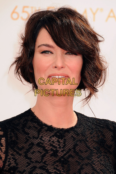 Lena Headey<br /> 65th Annual Primetime Emmy Awards - Arrivals held at Nokia Theatre L.A. Live, Los Angeles, California, USA.<br /> September 22nd, 2013 <br /> headshot portrait black lace  <br /> CAP/ADM/BP<br /> &copy;Byron Purvis/AdMedia/Capital Pictures