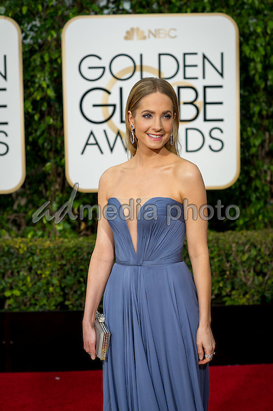 """Joanne Froggatt, Golden Globe nominee for BEST PERFORMANCE BY AN ACTRESS IN A SUPPORTING ROLE IN A SERIES, MINI-SERIES OR MOTION PICTURE MADE FOR TELEVISION for her role in """"Downton Abbey"""",  arrives at the 73rd Annual Golden Globe Awards at the Beverly Hilton in Beverly Hills, CA on Sunday, January 10, 2016. Photo Credit: HFPA/AdMedia"""