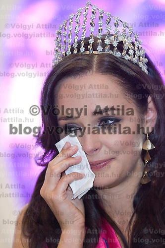 Agnes Dobo became Miss World Hungary during the Queen live TV show hosting the three beauty contests Miss World Hungary, Miss Universe Hungary and Miss Earth Hungary, held in RTL Klub television headquarter Media Center Campona, Budapest, Hungary. Thursday, 13. May 2010. ATTILA VOLGYI