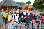 WELCOME: The mayor of Kerry Councillor Bobby O'Connell welcomed the German delegation of Vintage Cars to the Meadowland Tralee on Friday..................................... ....