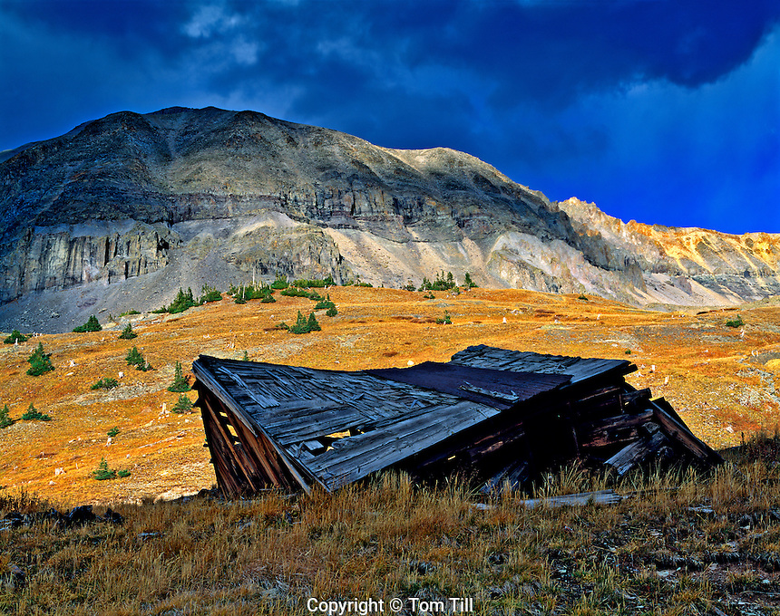 Ruins at Tomboy Ghost Town, San Juan Mountains, Colorado Uncomphagre National Forest