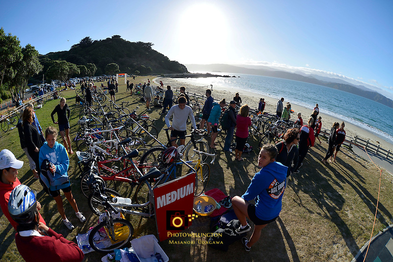 Wellington Schools Triathlon Championships at Scorching Bay, Wellington, New Zealand on Tuesday 12 March 2013.<br />
