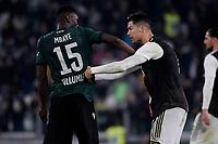Ibrahima Mbaye of Bologna FC , Cristiano Ronaldo of Juventus <br /> Torino 19/10/2019 Allianz Stadium <br /> Football Serie A 2019/2020 <br /> Juventus FC - Bologna <br /> Photo Federico Tardito / Insidefoto