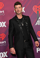 14 March 2019 - Los Angeles, California - Robin Thicke. 2019 iHeart Radio Music Awards - Press Room held at Microsoft Theater. Photo Credit: Birdie Thompson/AdMedia